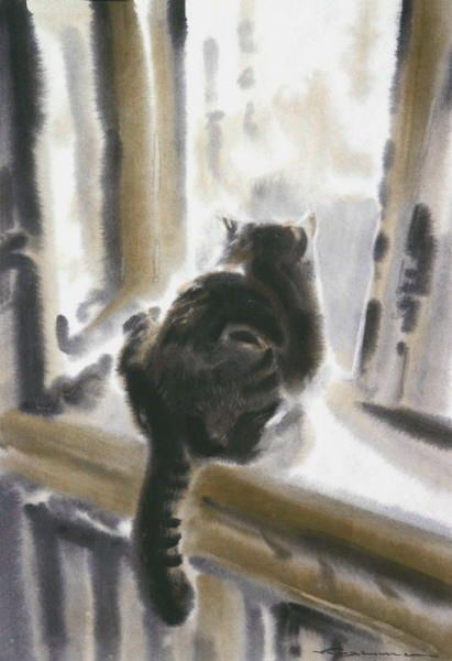 The Kitchen Window - Konstantin Kuzema