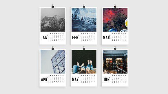 Modern Photo Calendar 2018 A4 by Pro.Motion on @creativemarket