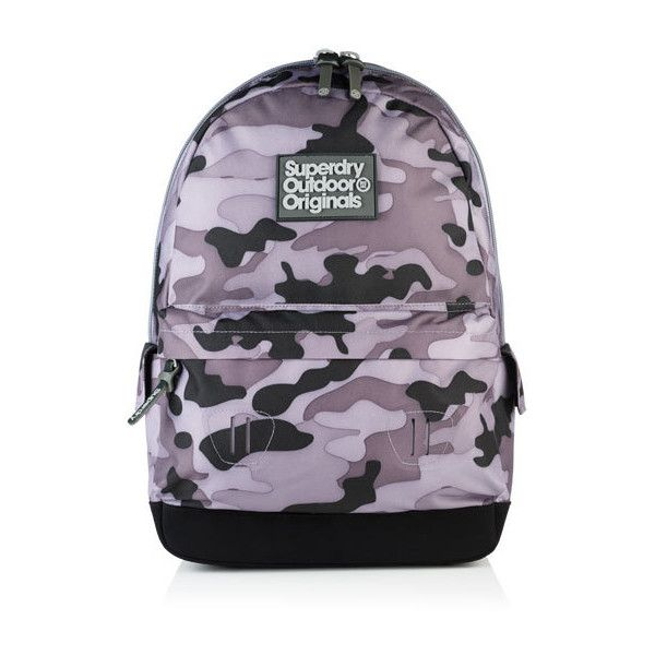 Superdry Mass Camo Montana Rucksack ($50) ❤ liked on Polyvore featuring men's fashion, men's bags, men's backpacks, grey and superdry
