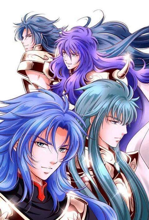 Kanon, Milo, Saga and Camus