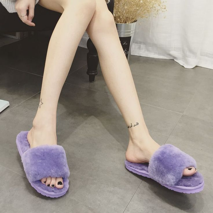 Natural Sheepskin Slippers Fashion Winter Open Toe Women Indoor Slippers Fur Warm High Quality Wool Soft Plush Lady Home Shoe #electronicsprojects #electronicsdiy #electronicsgadgets #electronicsdisplay #electronicscircuit #electronicsengineering #electronicsdesign #electronicsorganization #electronicsworkbench #electronicsfor men #electronicshacks #electronicaelectronics #electronicsworkshop #appleelectronics #coolelectronics
