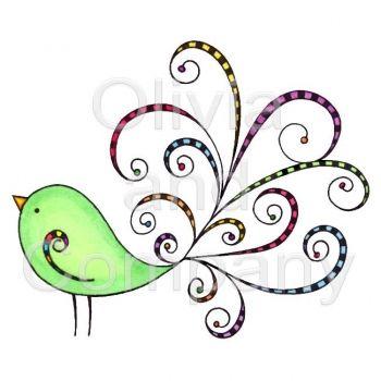 Retro Pretty Bird