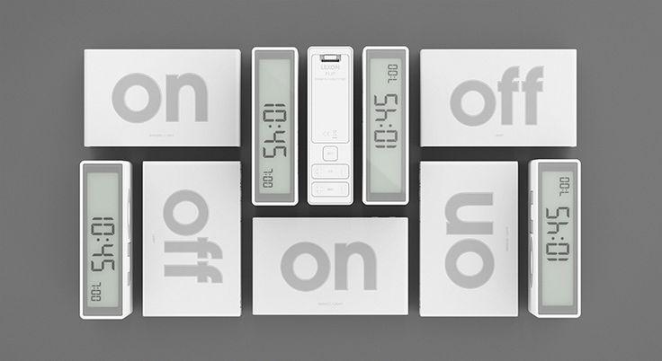 flip alarm clock by adrian + jeremy wright  of designwright for lexon