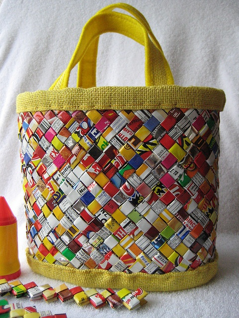 * handbag candy wrapper by Kika's Handmade dreams, via Flickr