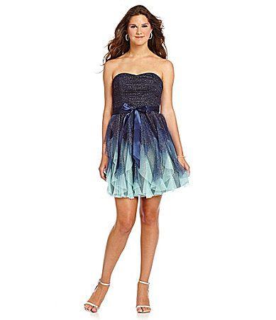 Dillards Juniors Formal Blue Dress Fashion Dresses