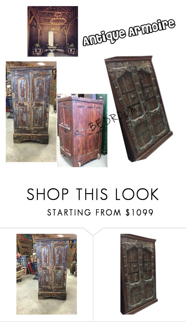 """Antique Rustic Armoire"" by era-chandok ❤ liked on Polyvore featuring interior, interiors, interior design, home, home decor, interior decorating, rustic, wardrobe, armoire and antiquearmoire"