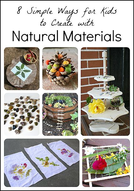 8 Simple Ways for Kids to Create Using Natural Materials~ Buggy and Buddy