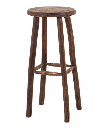 Look at this #zulilyfind! Emmy Wood Bar Stool #zulilyfinds