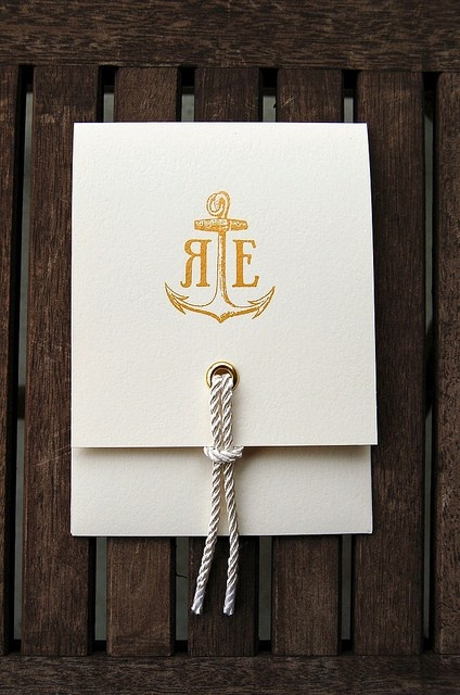 I am so in love with anchors... I just can't rule out a So Cal wedding with a nautical theme.