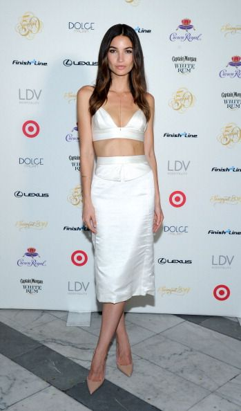 Lily Aldridge at the SI Swimsuit South Beach Soiree. Styling by Estee Stanley.