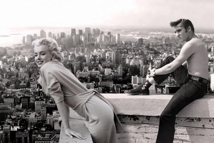 Marilyn Monroe And Elvis Presley In New York City, NY