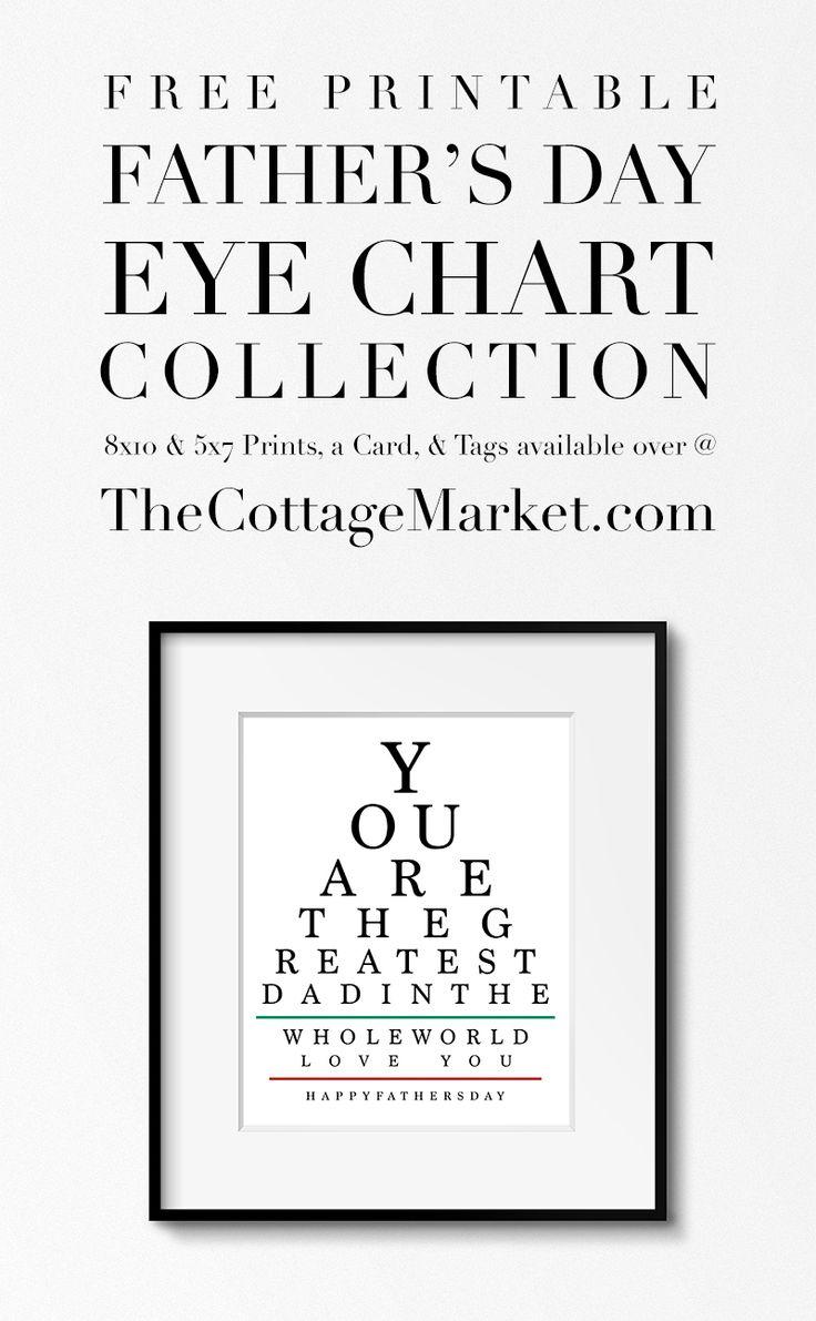 free printable father u0026 39 s day eye chart collection