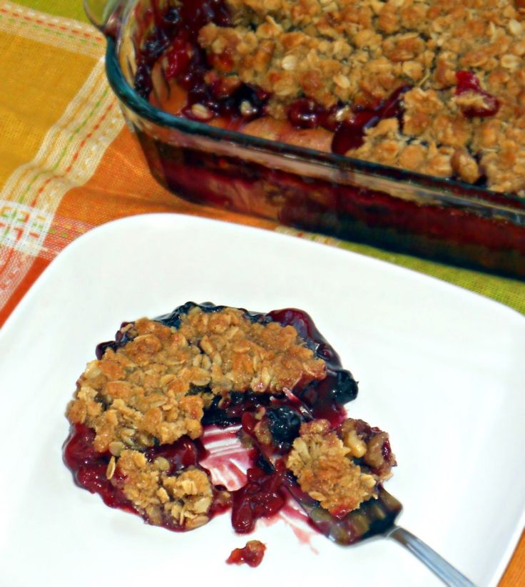 Cherry Blueberry Crisp with Walnut Streusel Topping Recipe