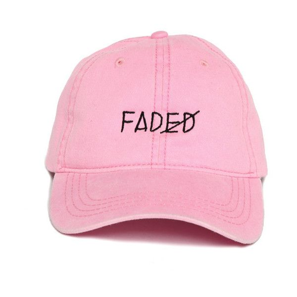 Faded Strapback ($38) ❤ liked on Polyvore featuring accessories, hats, sun visor, panel hats, caps hats, sun visor cap and visor cap