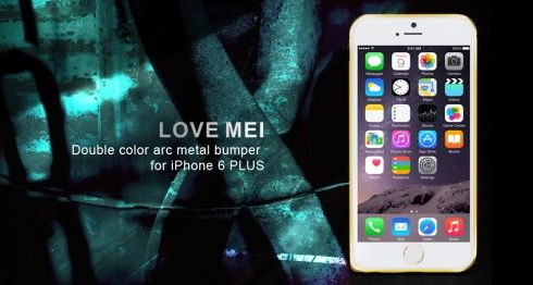 LOVE MEI® Double Color Arc Metal Bumper for iPhone 6 Plus