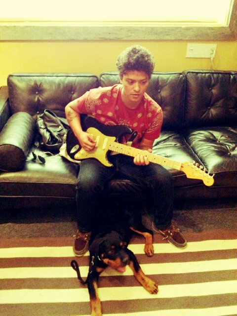 Bruno Mars and his dog Geronimo!! | Bruno Mars | Pinterest
