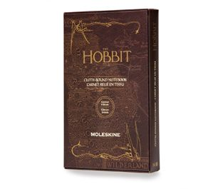 Moleskine   The Hobbit Limited Edition Clothbound Notebook, Large, Ruled, Hard Cover, Nutmeg Brown
