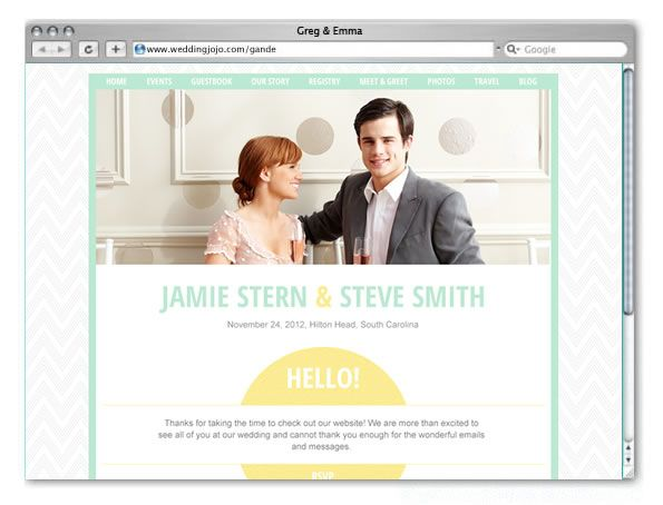 Wedding Website Example  http://www.weddingjojo.com/marthastewartweddings
