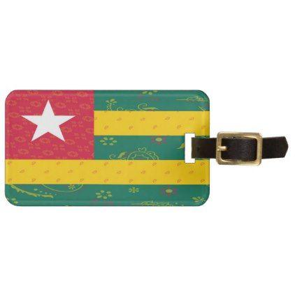 Togo Flag Luggage Tag - accessories accessory gift idea stylish unique custom