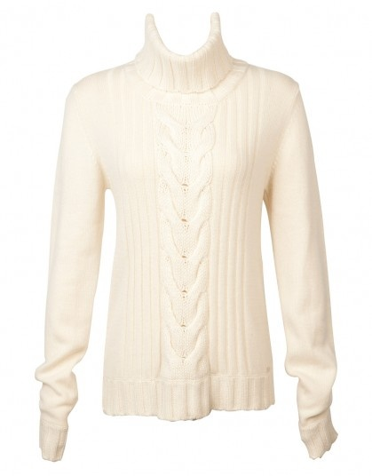 'Speakeasy Cable' | Ivory - 100% Cashmere - Shop