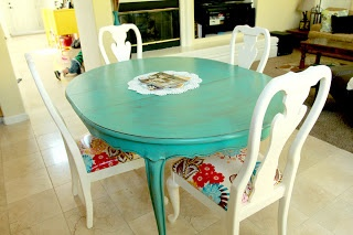 Refinishing table and chairs