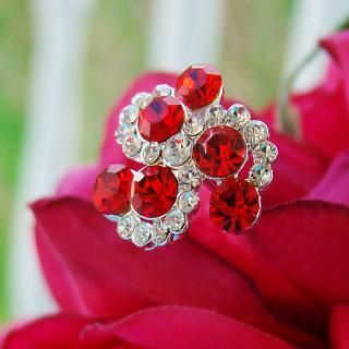 Red Swirls Bouquet Accenting Jewelry http://oneclassicwedding.com/Wedding-Accessories/Bouquet-Jewelry/Red-Swirl-Bouquet-Jewelry