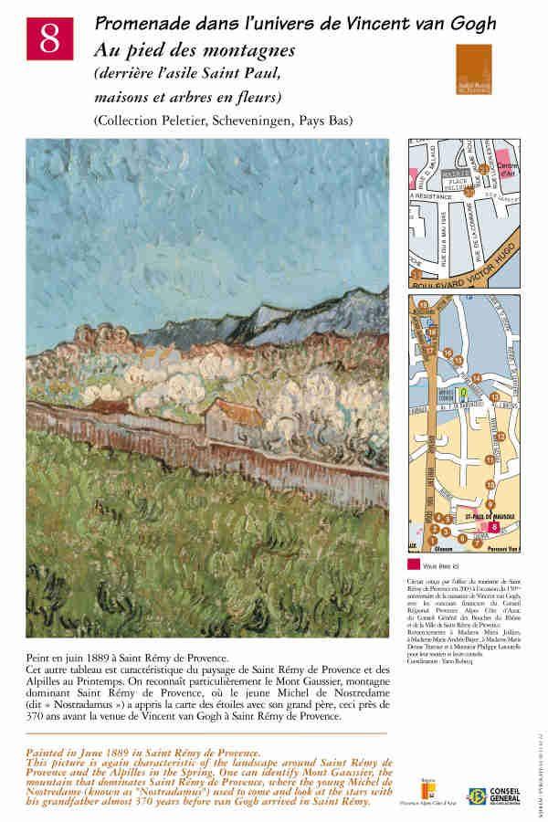 """""""Au pied des montagnes"""" #peinture #provence #vangogh #saintremydeprovence"""