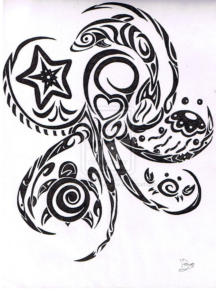 ocean life tattoos