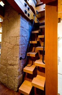 Check Out These Great Stair Steps In This Adorable Tiny House. Tiny Cabin:  The Totems