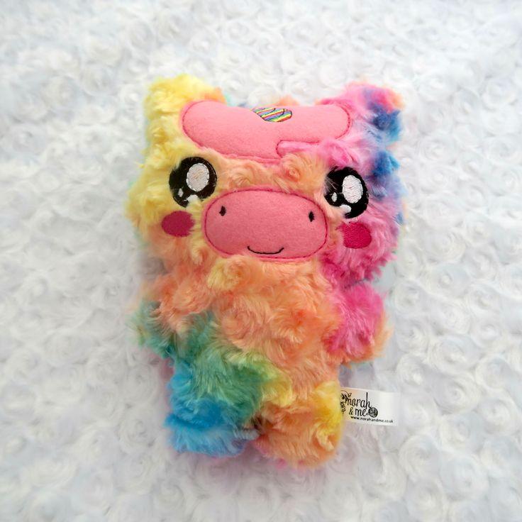 Rainbow swirl magical unicorn soft toy, ce marked, stuffy