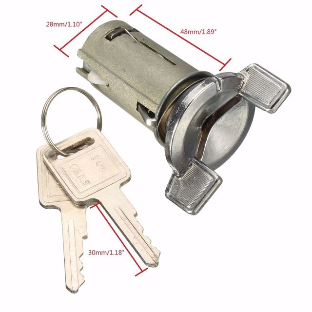 Motor Ignition Key Switch Cylinder Lock With 2 Keys Assembly For