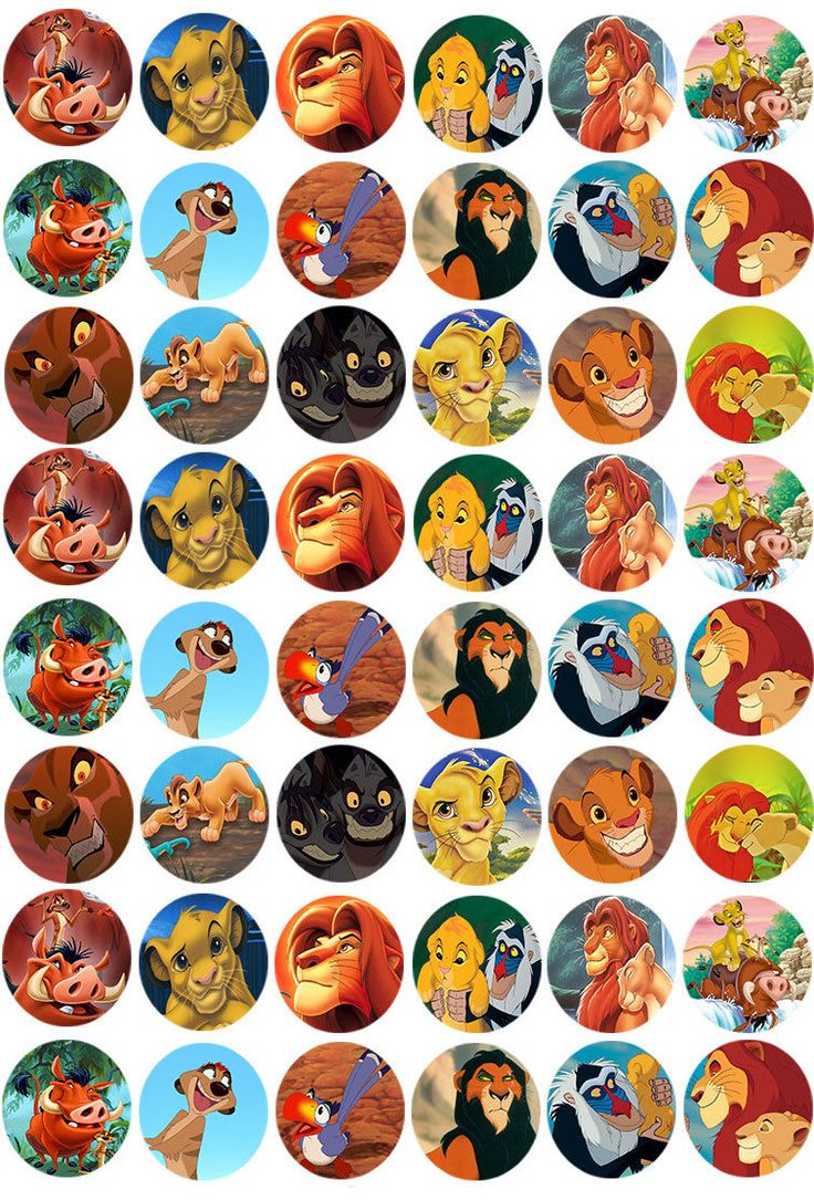 48 The Lion King Cupcake Toppers Edible Rice Wafer Paper
