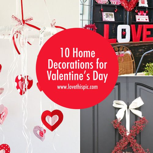 25 best images about valentines day on pinterest for for Valentine decorations to make at home