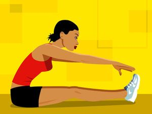 Learn easy physical therapy exercises to stretch tight hamstrings.: Starting Hamstring StretchesThe Hurdler Hamstring StretchHamstring Stretch in StandingThe Runner's Hamstring and Calf StretchThe Towel Hamstring StretchThe Standing Hamstring Stretch