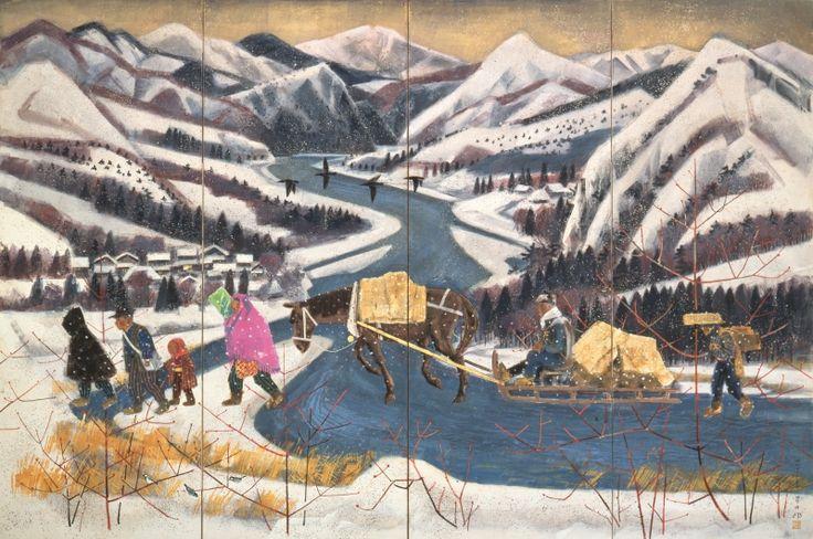 Fukuda Toyoshiro 福田豊四郎 (1904-1970), Snow Country, 1968.