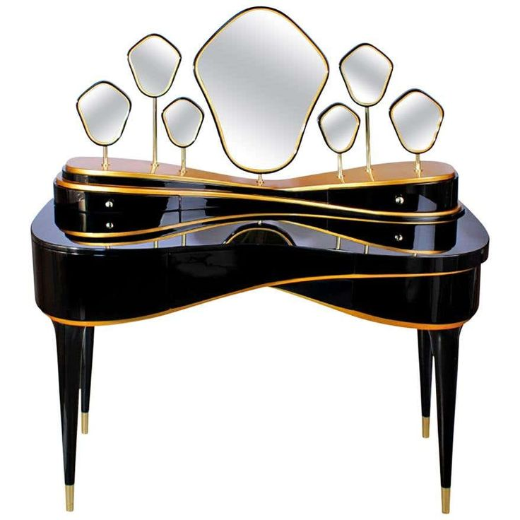 Best Luxury Queen Modern Contemporary Dressing Table In Black 400 x 300