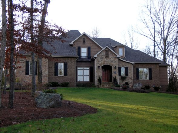 Rock Brick Combination Exterior Home French Country Home