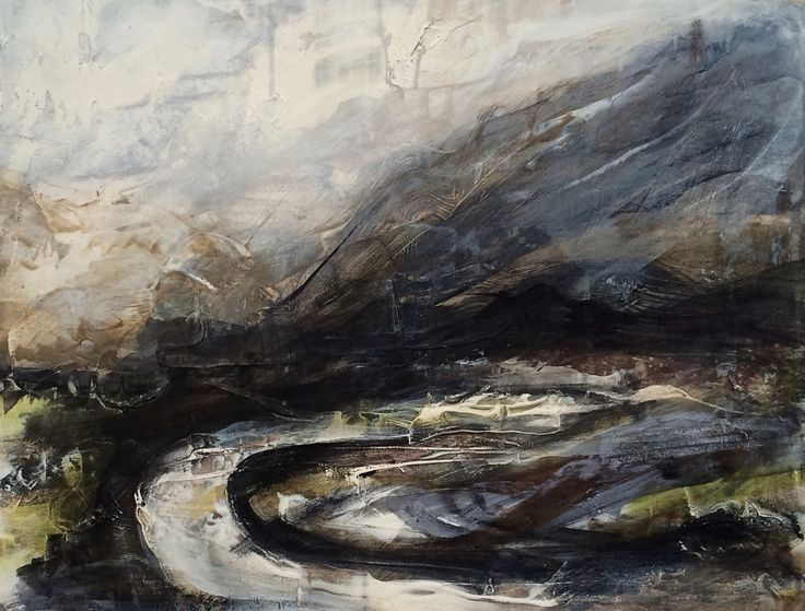 'The Other Side' Acrylic & Gesso on Plyboard. This work will be available at Ffin Y Parc Gallery in 2015 www.welshart.net