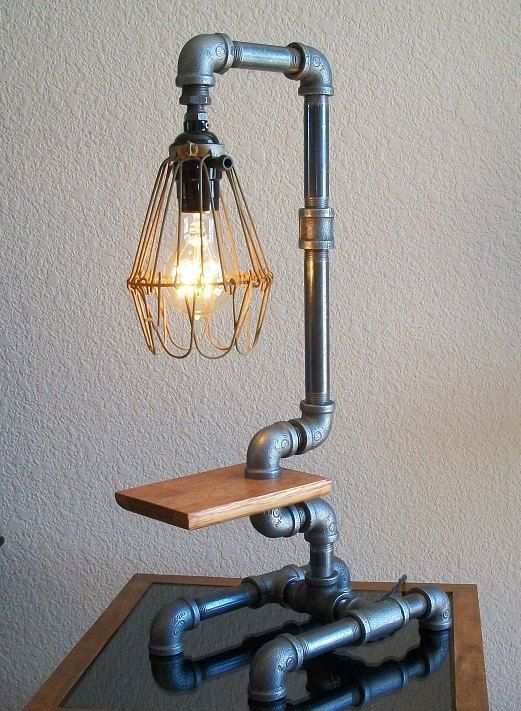 Another Cool Lamp For A Boys Room Coollamp Pipe Table In 2019