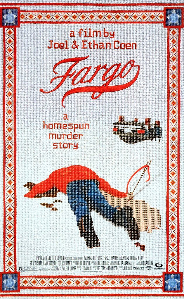 Fargo (1996) Jerry Lundegaard's inept crime falls apart due to his and his henchmen's bungling and the persistent police work of the quite pregnant Marge Gunderson.