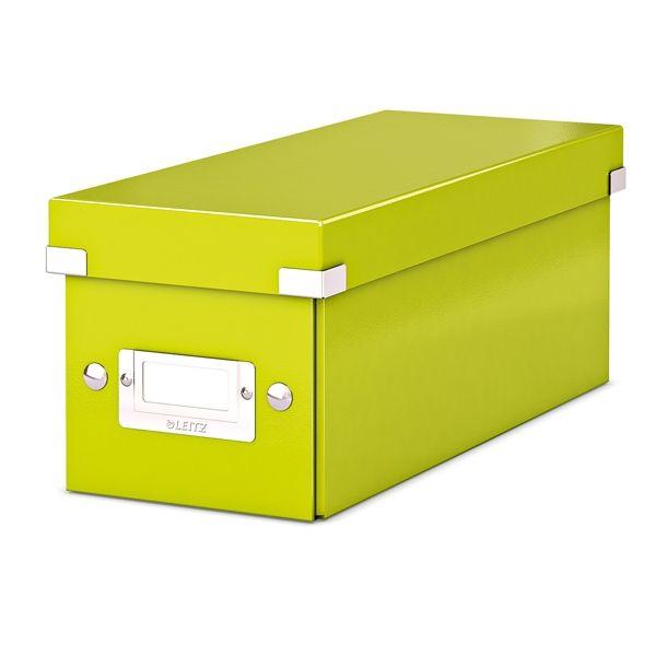 Leitz 6041 WOW CD-box groen metallic  |  De Leitz 6041 CD-Box WOW groen metallic heeft een modern ontwerp en is door de Click & Store technologie zeer gemakkelijk in en uit elkaar te klikken. Door het PP gelamineerde hardboard is deze CD opbergdoos beter beschermd tegen vuil en vocht. Daarnaast bevat deze CD-doos een etikethouder waardoor de disks beter te indexeren zijn.
