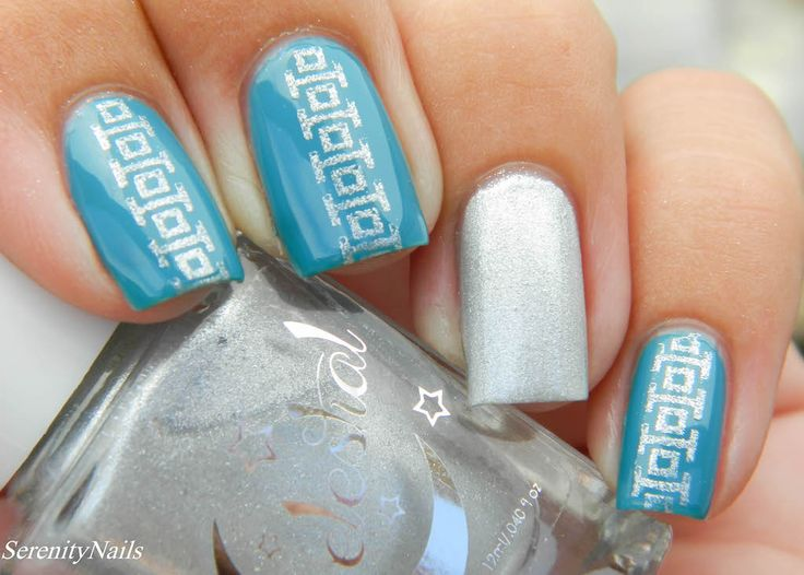 Argent (silver stamping polish) swatched by @cdavid0648