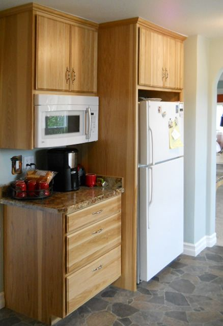 Microwave Cupboards Cabinets Kitchens Remodeled Spokane Contractor