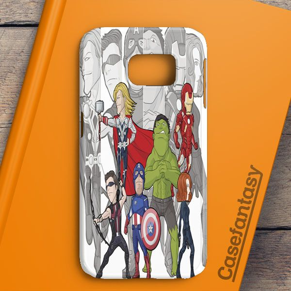 Avengers Cartoon Samsung Galaxy S6 Edge Plus Case | casefantasy
