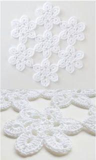 Soft Lace Motif Doily