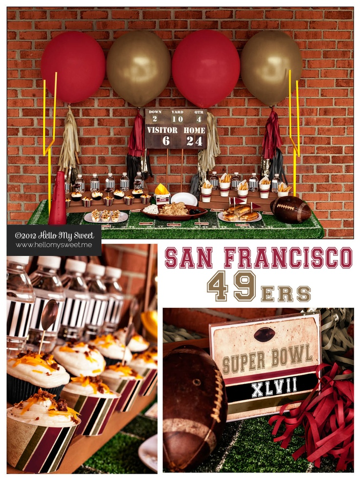 49ers Super Bowl Party San Francisco Printable by HelloMySweet