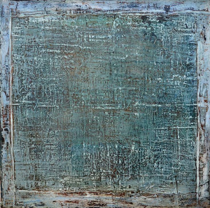 blue grey green, 50 x 50 x  2 cm, Mischtechnik auf Leinwand