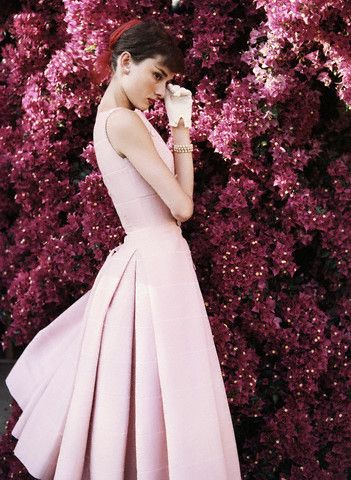 Audrey Hepburn #pink. I have passed over hundreds of Audrey photos almost pinning many times. She was Soo pretty. Now its done.