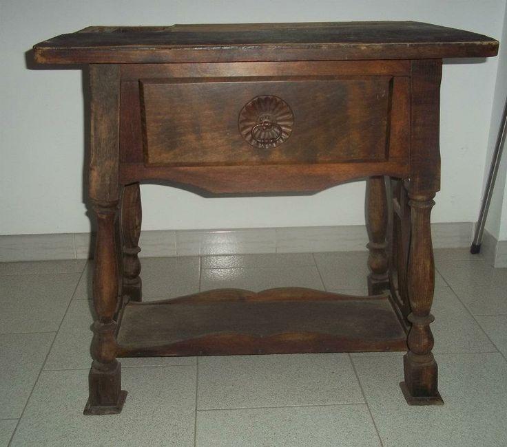 Tavolino in faggio primi 900 com'era