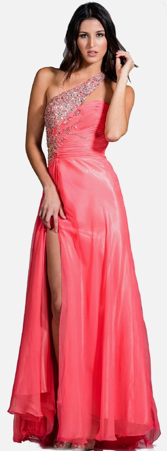 Cute Long One Shoulder Prom Dresses 2013 Clothing